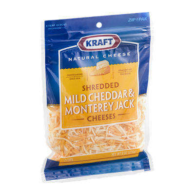 Kraft Mild Cheddar & Monterey Jack Cheeses Shredded