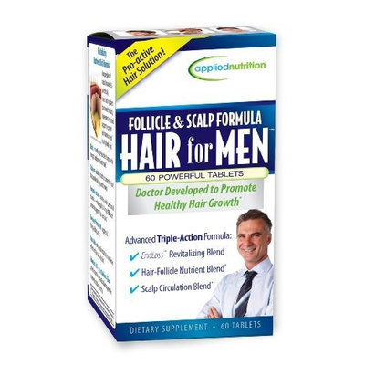 Applied Nutrition Follicle and Scalp Formula Hair for Men, 60 Count