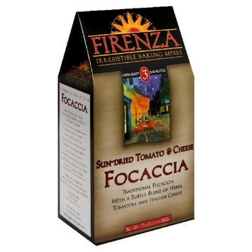 Firenza Sun Dried Tomato Cheese Focaccia Mix, 17-Ounce (Pack of 3)