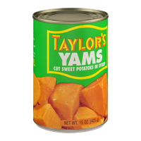 Taylor's Yams Cut Sweet Potatoes In Syrup