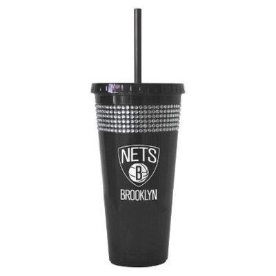 Boelter Brands NBA 2 Pack Brooklyn Nets Bling Straw Tumbler - Black