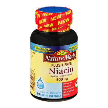 Nature Made Niacin 500mg Liquid Softgels - 60 CT