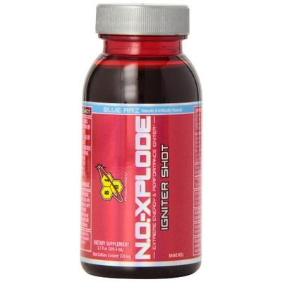BSN N.O. XPLODE Igniter Shot Blue Raz 12- 3.7 fl oz bottles