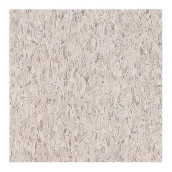 ARMSTRONG FP51858031 Vinyl Composition Tile,45sq ft, Sndft Wht