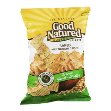 Good Natured Selects All Natural Baked Multigrain Crisps Tuscan Garden Medley