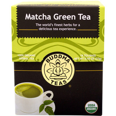 Buddha Teas Organic Matcha Green Tea-6 Each