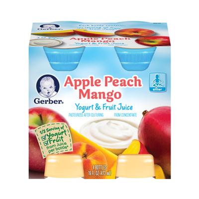 Gerber® Yogurt & Fruit Juice Blend Apple Peach Mango