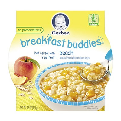 Gerber® Breakfast Buddies® Hot Cereal With Real Fruit Peach
