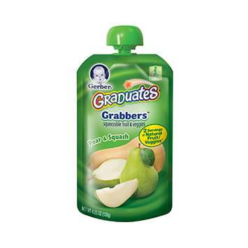 Gerber® Graduates Grabbers® Squeezable Fruit & Veggies Pear & Squash