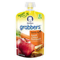 Gerber® Grabbers™ Squeezable Puree Apple Carrot Pineapple