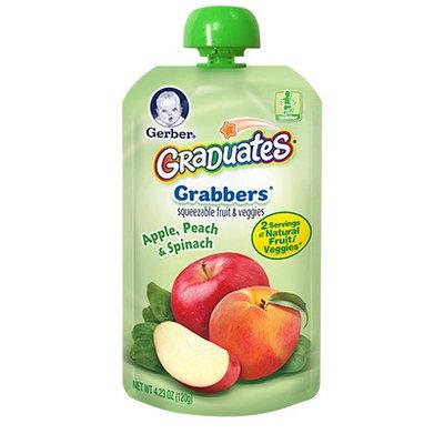 Gerber® Graduates Grabbers® Squeezable Fruit & Veggies Apple, Peach & Spinach