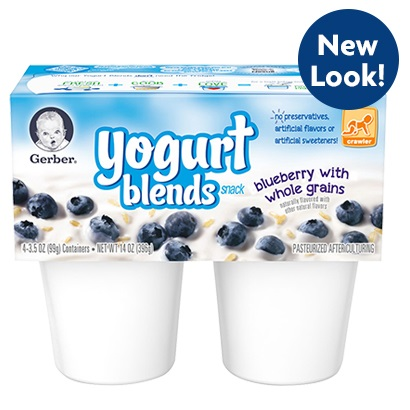 Gerber® Yogurt Blends Snack Blueberry With Whole Grains