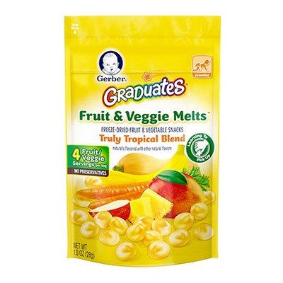 Gerber® Graduates® Fruit & Veggie Melts™ Snack Truly Tropical Blend