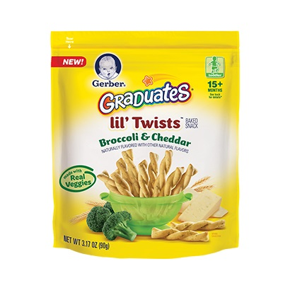 Gerber® Graduates® Lil' Twists™ Broccoli & Cheddar
