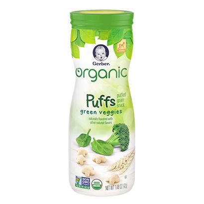 Gerber® Organic Puffs Green Veggies