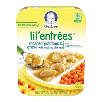 Gerber® Lil' Entrées® Mashed Potatoes And Gravy With Roasted Chicken With Carrots
