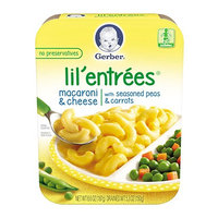 Gerber® Lil' Entrées® Macaroni & Cheese With Seasoned Peas & Carrots