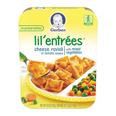 Gerber® Lil' Entrées® Cheese Ravioli In Tomato Sauce With Mixed Vegetables
