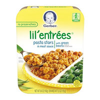 Gerber® Lil' Entrées® Pasta Stars In Meat Sauce With Green Beans