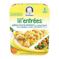 Gerber® Lil' Entrées® Yellow Rice & Chicken With Vegetables In Sauce With Green Beans & Carrots