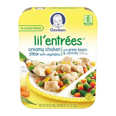 Gerber® Lil' Entrées® Creamy Chicken Stew With Vegetables With Green Beans & Carrots