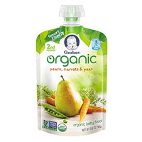 Gerber® Organic 2nd Foods® Pouches Pears, Carrots & Peas