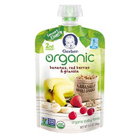 Gerber® Organic 2nd Foods® Pouches Bananas, Red Berries & Granola