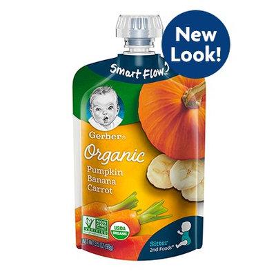Gerber® Organic 2nd Foods® Pouches Pumpkin Banana Carrot