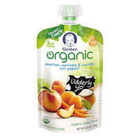 Gerber® Organic 3rd Foods® Pouches Peaches, Apricots & Carrots With Yogurt