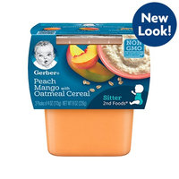 Gerber® 2nd Foods® Peach Mango With Oatmeal Cereal