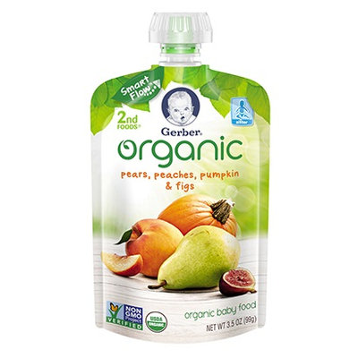 Gerber® Organic 2nd Foods® Pouches Pears, Peaches, Pumpkin & Figs
