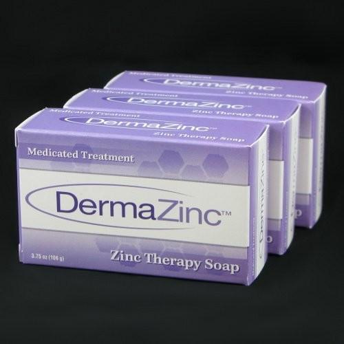 DermaZinc Zinc Therapy Soap 106g bar - 3 Pack
