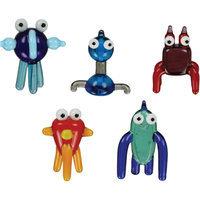 BrainStorm tOObz Glass World Miniature Glass Figurines, 5-Pack, akOOzab/bazOO/cOOda/gadzOOk/mOOshu