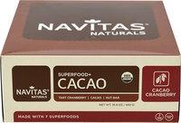 Navitas Naturals Cacao Cranberry Superfood Bars-12 Bars