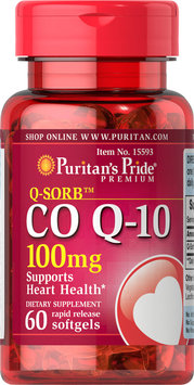 Puritan's Pride 2 Units of Co Q-10 100 mg-60-Softgels