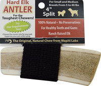 Wapiti Labs Split Elk Antlers Dog Chews 4 in. for small to medium breeds