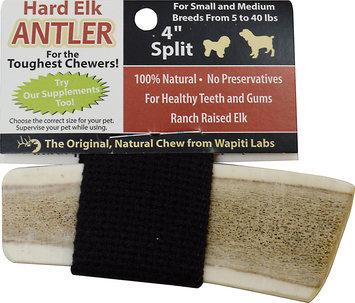 Wapiti Labs Split Elk Antlers Dog Chews 4 in. for small to medium breeds