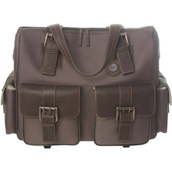 Jill-e Designs JACK Rolling Satchel Brown Camera Bag
