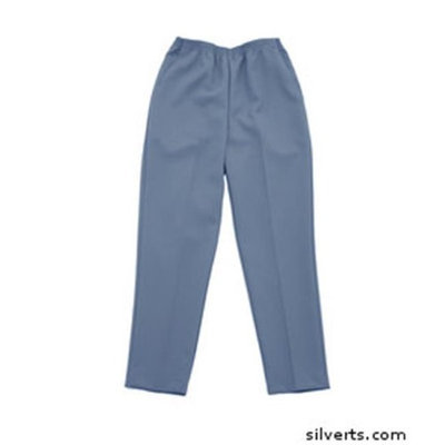 Silvert's Silverts 130913606 Pull on Slacks for Arthritis Womens - 2 Pockets Elastic Waist Pant Chambray - 42 in.