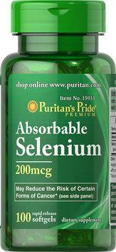Puritan's Pride Absorbable Selenium 200 mcg-200 Softgels