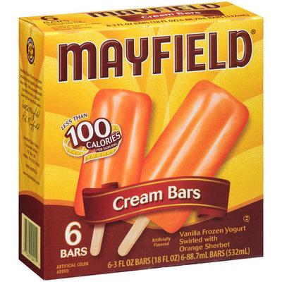 Mayfield Cream Bars Frozen Dessert, 3 fl oz, 6 count