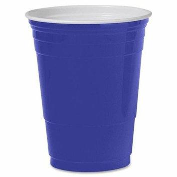 SOLO CUP COMPANY P16BRLPK Party Cups Plastic 16 oz. 50/PK Blue