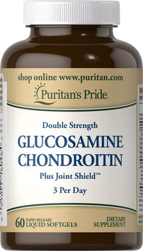 Puritan's Pride Double Strength Glucosamine Chondroitin Formula-60 Softgels