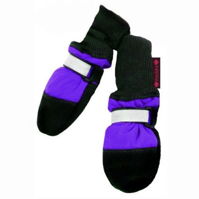 Muttluks, Inc. Muttluks Fleece Lined Dog Boots, Purple, Itty Bitty, Set of 4