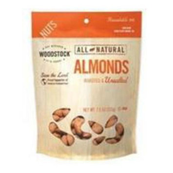 Woodstock BG19725 Woodstock Roasted N-S Almonds - 8x7. 5OZ