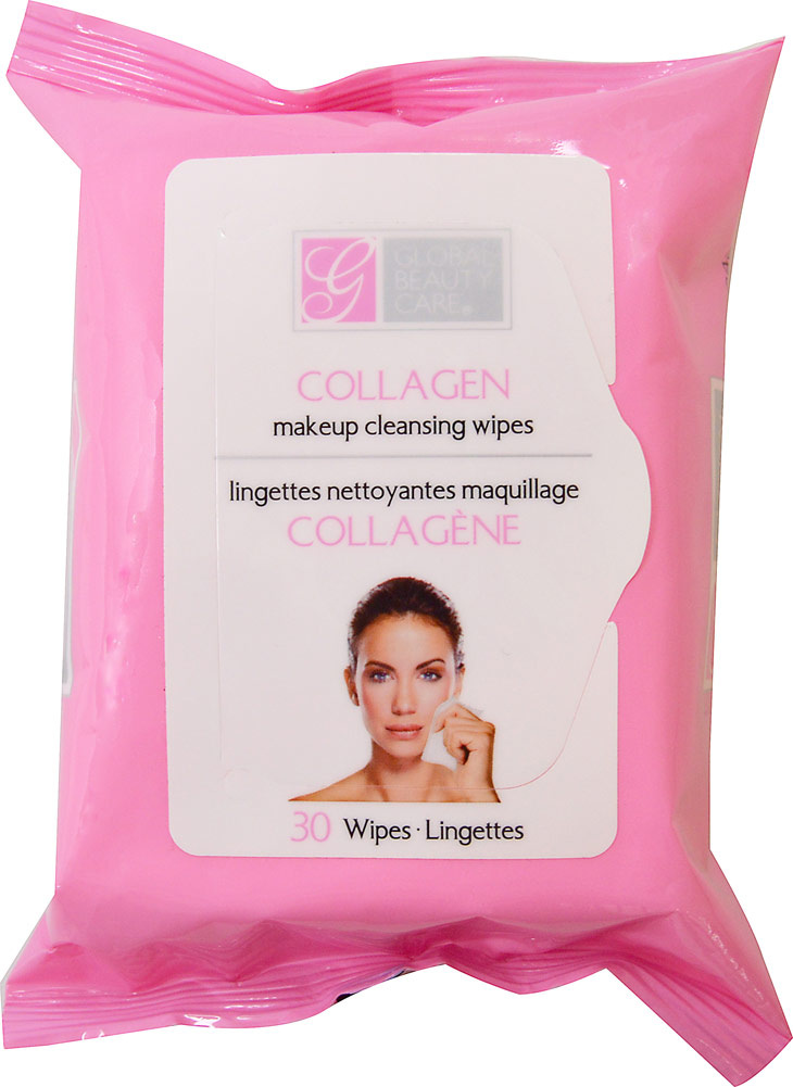 Global Beauty Care Collagen Makeup Cleansing Wipes