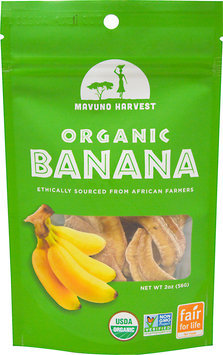 Mavuno Harvest - 100 Organic All Natural Dried Fruit Banana - 2 oz.