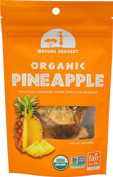Mavuno Harvest Organic All Natural Dried Pineapple 2 oz