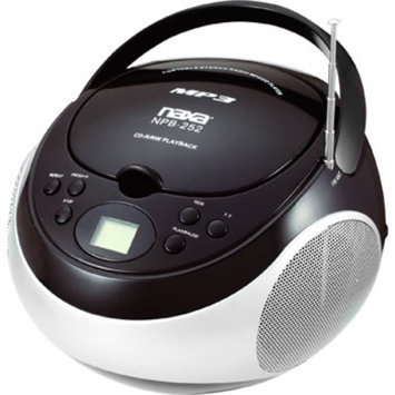 Naxa Portable MP3/CD Player with AM/FM Stereo Radio, Black