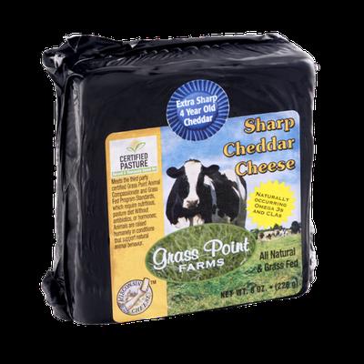 Grass Point Farms Sharp Cheddar Cheeese